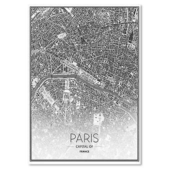 Deco Panel, Map of Paris