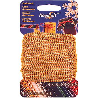 Needloft Novelty Craft Cord 20 Yards Metallic Gold 550 55001