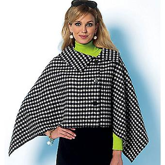 Misses' Wrap And Cape  Xsm  Sml  Med Pattern B5819  0Y0