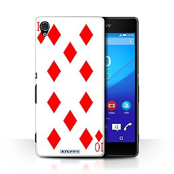 STUFF4 Case/Cover for Sony Xperia Z4v/E6508/10 of Diamonds/Playing Cards