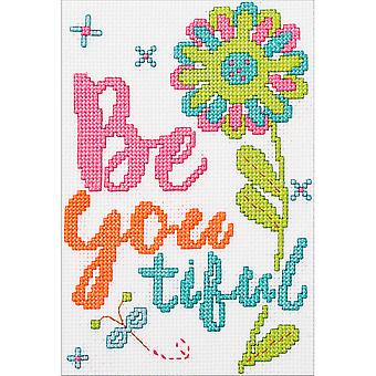 My 1st Stitch Beautiful Mini Counted Cross Stitch Kit-5