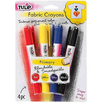 Tulip Fabric Color Crayons 4/Pkg-Primary FCSTK4-33106