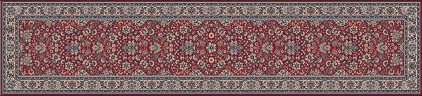 Royal Red 1561-507 sol rouge avec la frontière ivoire Rectangle Tapis Tapis traditionnel