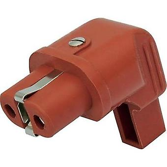 IEC connector ATT.LOV.SERIES_POWERCONNECTORS 344 Socket, right angle Total number of pins: 2 + PE 16 A Red Kalthoff 1