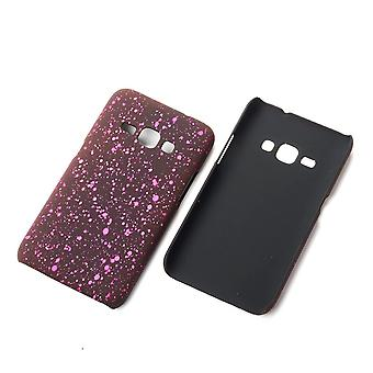 Cell phone cover case bumper shell for Samsung Galaxy J1 2016 3D Star Pink