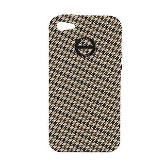 Hip Hop Cover Handyhülle Iphone 5 Pied de Poule HCV0091 marron glace