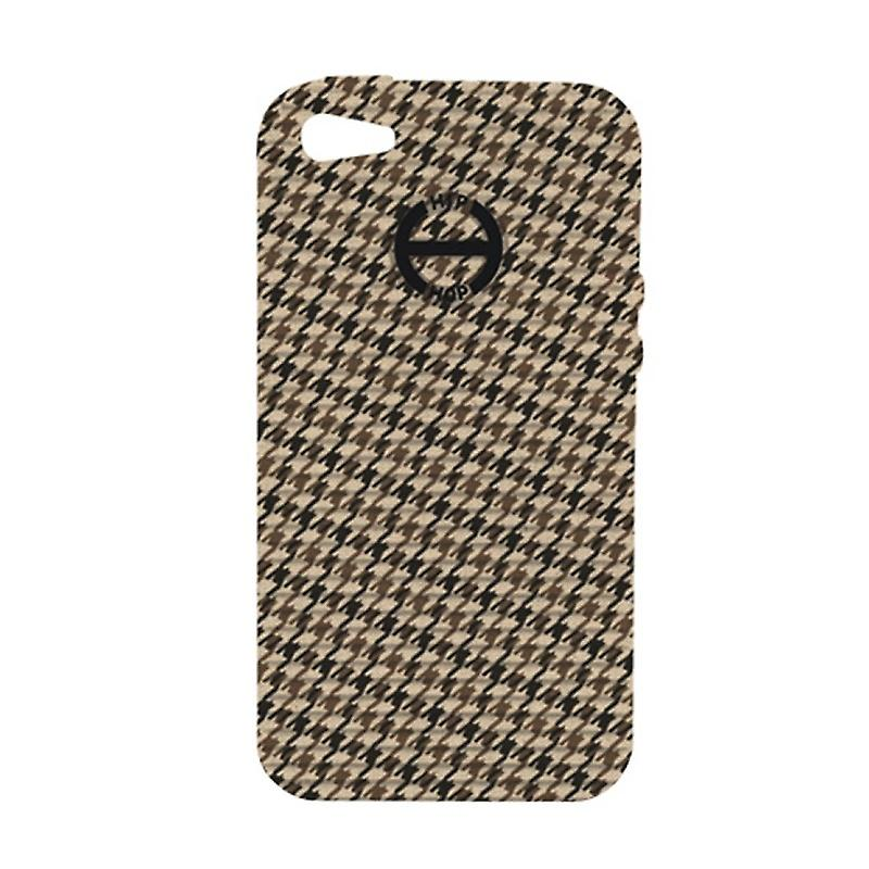 Hip Hop Cover Phone Case Iphone 5 Pied de Poule HCV0091 marron glace