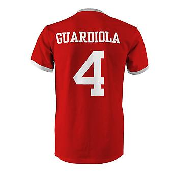 Josep Guardiola 4 Spain Country Ringer T-Shirt