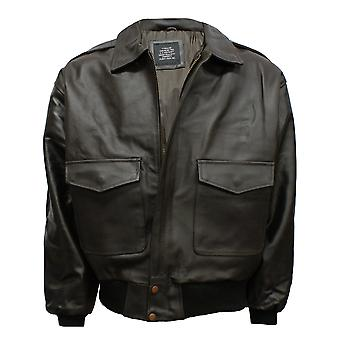 A2 Leather Air-Force Flight Bomber Jacket
