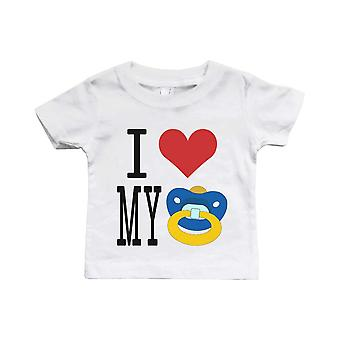 I Love My Pacifiers Funny White Baby Shirt Great Gift Ideas