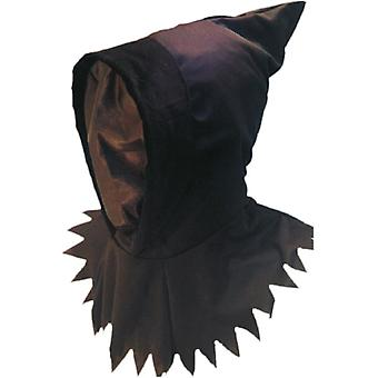 Hood and mask ghoul black on head