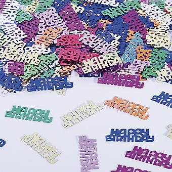 Table confetti of happy birthday text decoration confetti birthday party
