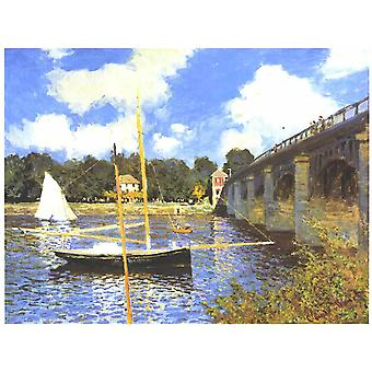 Claude Monet - brug in Argenteuil Poster Print Giclee