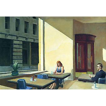Edward Hopper - Sunlights in Cafeteria Poster Print Giclee