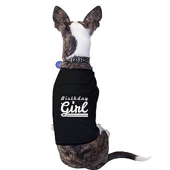 Mädchen schwarze kleine Haustier Shirt Baumwolle lustiger Hund Geburtstag Geburtstagsgeschenk