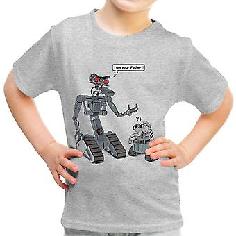 I Am Yor Father Number Johnny 5 Wall E Short Circuit Kid's T-Shirt