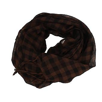 Frédéric Thomass scarf Herrenschal checkered Black Brown
