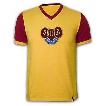 Dukla Prague Away 1960\'s Short Sleeve Retro Shirt 100% cotton