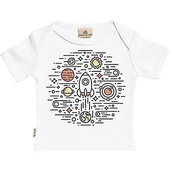 Spoilt Rotten Space Circle Short Sleeve Baby T-Shirt