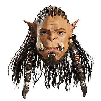Durotan Warcraft Deluxe Orc Son of Garad Warrior Mens Costume Overhead Mask