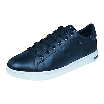 Geox D Jaysen A Womens Nappa Leather Trainers / Shoes - Black