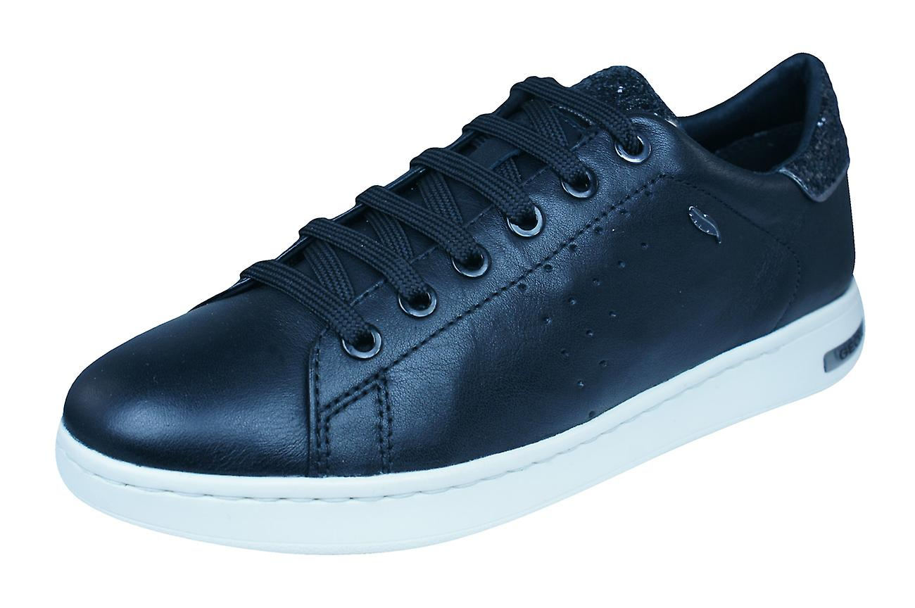 Geox D / Jaysen A Womens Nappa Leather Trainers / D Shoes - Black 2bec70