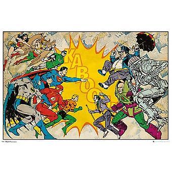 DC Comics Superhelden gegen Bösewichte Plakat Poster Print