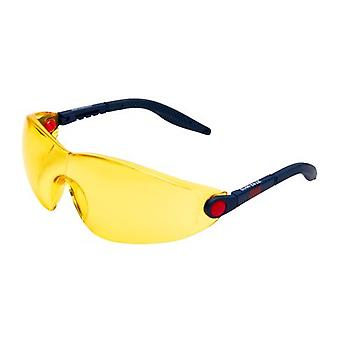 3M 2742 Safety Glasses, Anti-Scratch / Anti-Fog, Yellow Lens