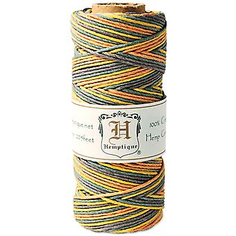 Hemp Cord Spool Variegated 20# 205 Feet Pkg Harvest Hs20va Har