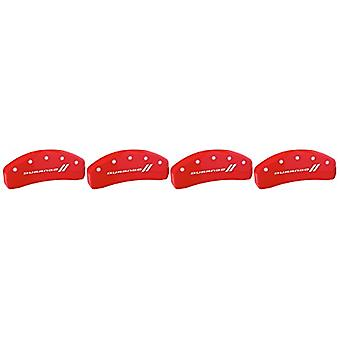 MGP Caliper Covers 12197SDGORD Caliper Cover (Red Powder Coat Finish, Engraved Front and Rear: With stripes/Durango, Sil