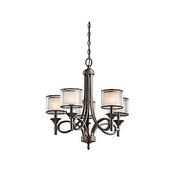 Lacey Five Light Chandelier - Elstead Lighting Kl/lacey5 Mb
