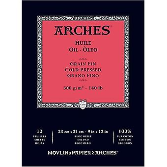 Arches Oil Cold Pressed Paper 140# 12 Sheets-9
