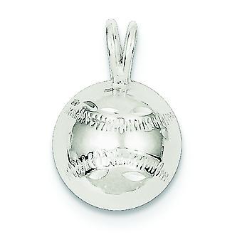 Argent sterling poli Sparkle-coupe Baseball charme - 1,2 grammes