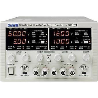 Bench PSU (adjustable voltage) Aim TTi CPX200DP 0 - 60 Vdc 0 - 10 A 360 W GPIB, LAN, LXI, RS232, USB No. of outputs 2