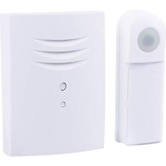 Wireless door bell Complete set backlit, with nameplate Byron B411E