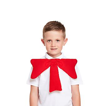 Childrens Big Red Bow Tie Character Fancy Dress Accessory