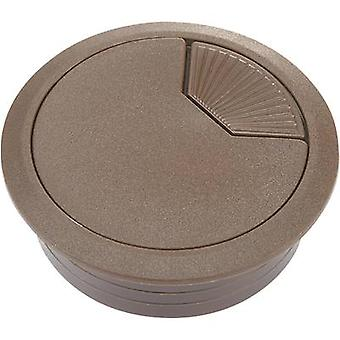 Conrad Components WP50BN Cable grommet for worktops Acrylonitrile butadiene styrene Brown 1 pc(s)