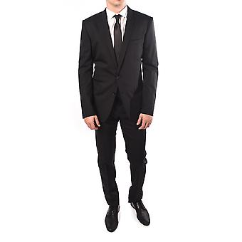 Dolce & Gabbana Men Solid 2-Piece Wool Suit Black