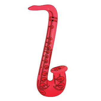 Novelty Inflatable/ Blow Up Saxophone 55cm Fancy Dress Accessory