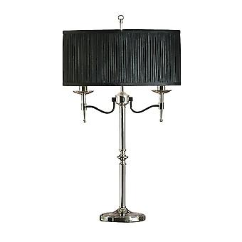 Interiors 1900 63652 Stanford 2 Light Table Lamp In Polished Nickel Fi