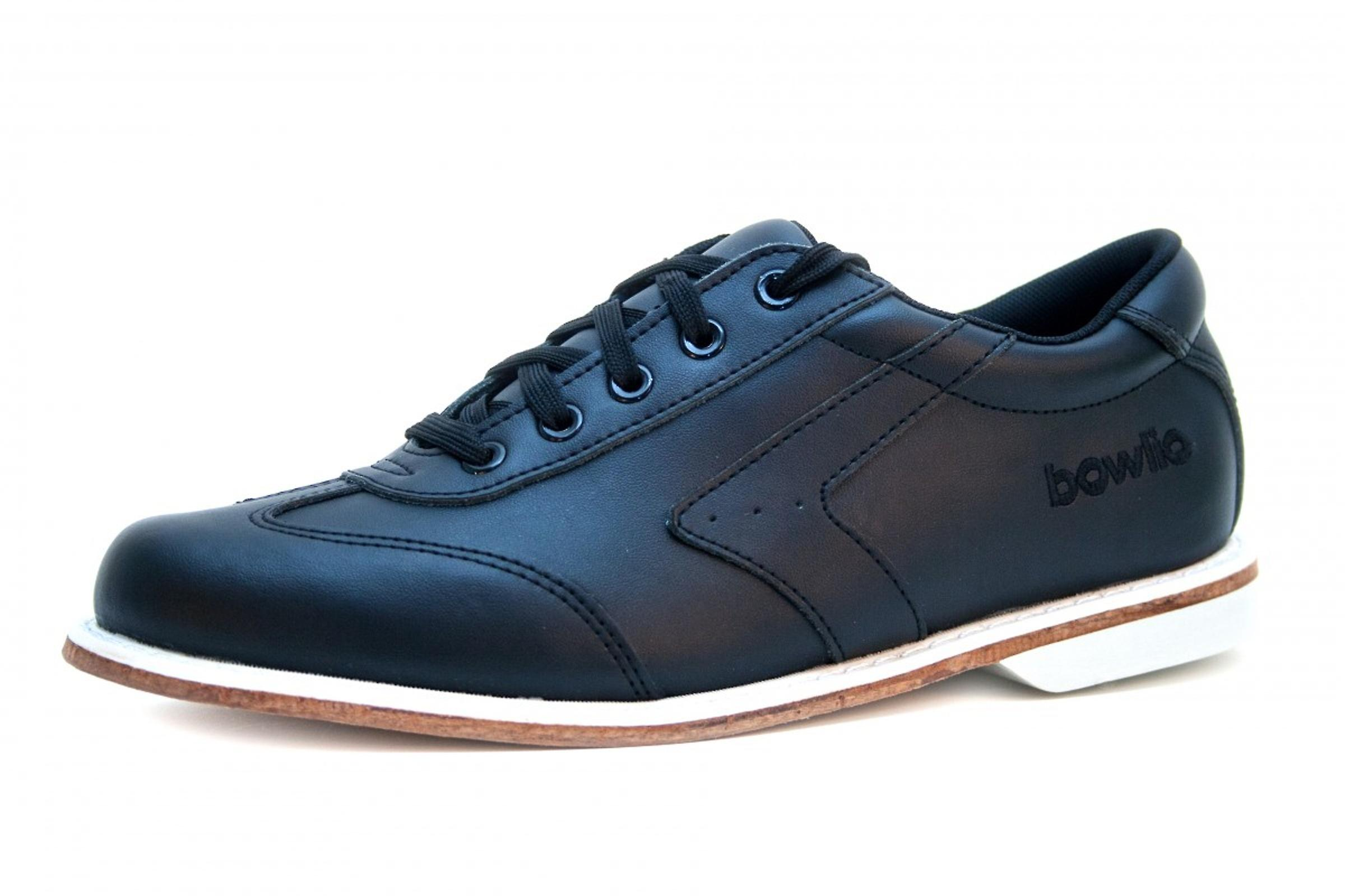 Bowling shoes - Bowlio Nero - leather with leather sole