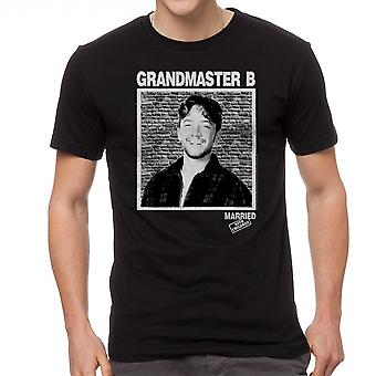 Married With Children Grandmaster B Men's Black T-shirt