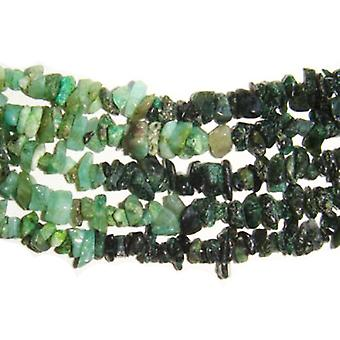 Long Strand 300+ Green Shaded Emerald 4-6mm Chip Handcut Beads DW1765