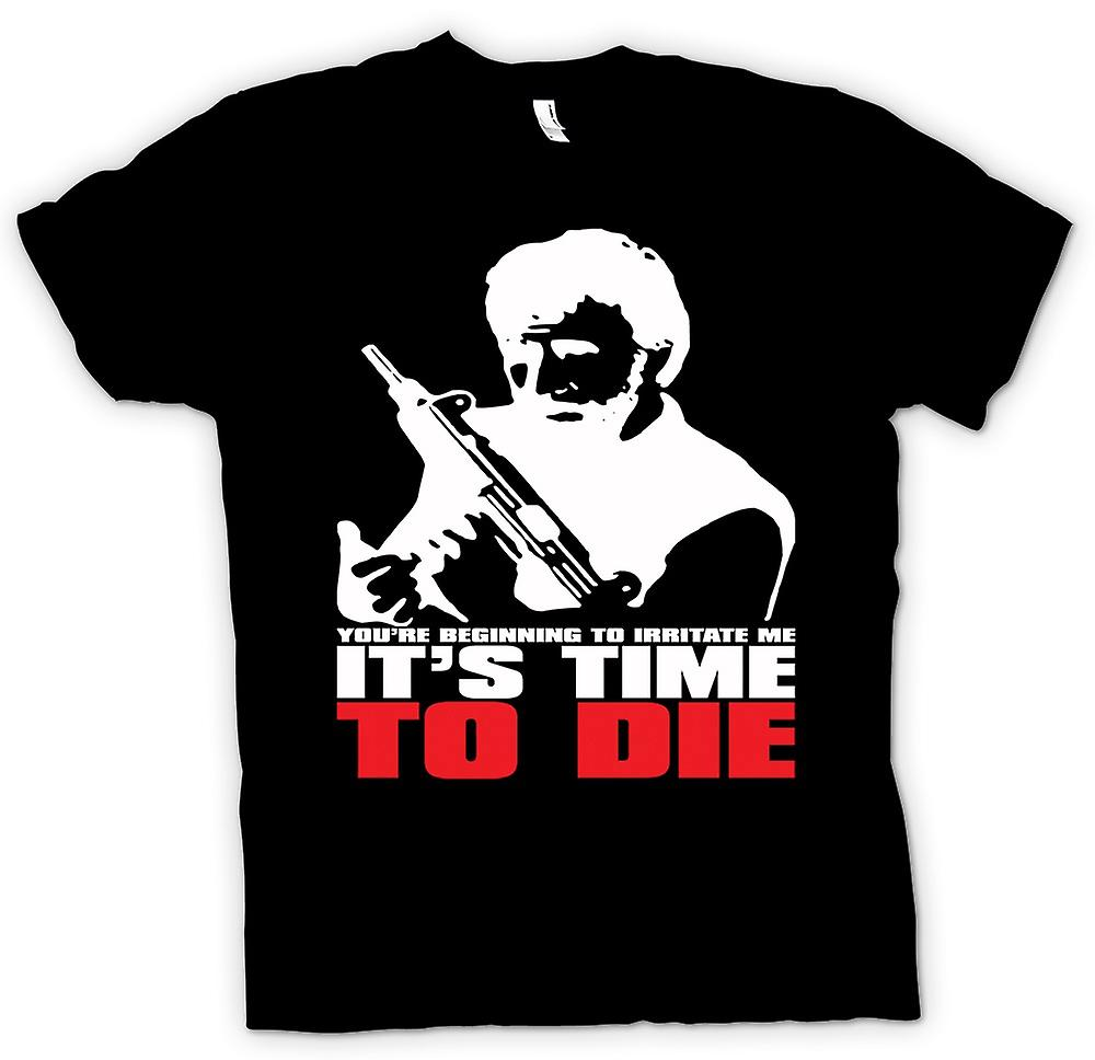 Mens T-shirt - Chuck Norris Time To Die - Funny