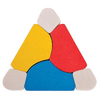 Bigjigs Toys Wooden Triangle Twister, Educational Sensory Development Babies