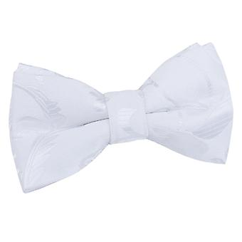 White Floral Pre-Tied Bow Tie for Boys