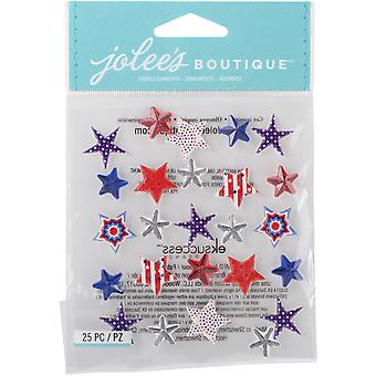 Jolee's Boutique Dimensional Stickers-Patriotic Stars