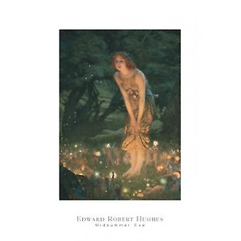 В канун Иванова дня c1908 плакат печати Эдвард Роберт Хьюз (24 x 32)