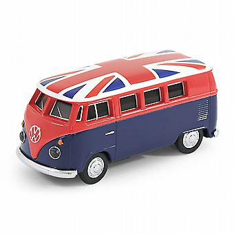 Oficial VW Camper Van Bus USB Memory Stick 8Gb - azul + Union Jack