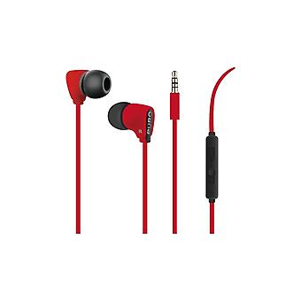 PURO Fine Stereo In-Ear Headphones, Red